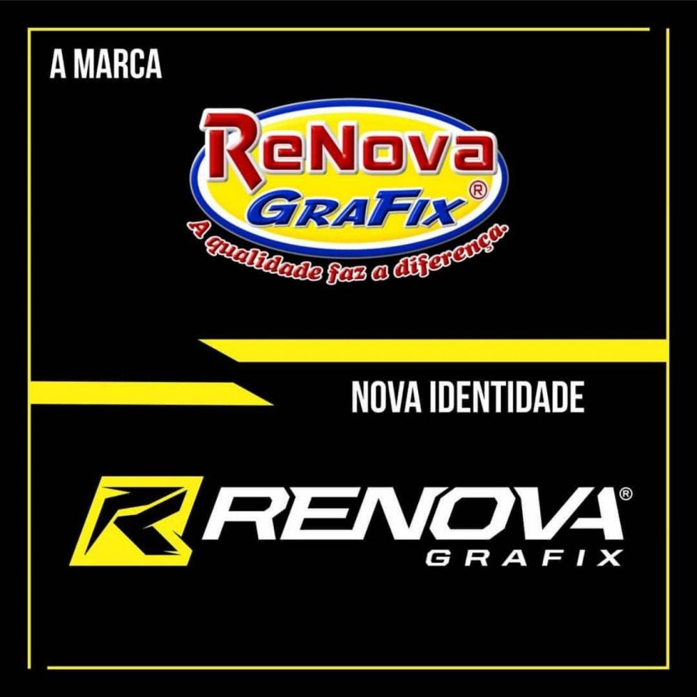 Transição da nova identidade visual da Renovagrafix.